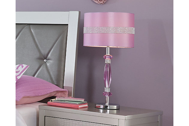 Nyssa Table Lamp, Purple, large