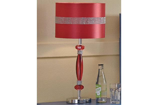 Nyssa Table Lamp by Ashley HomeStore, Pink Finish
