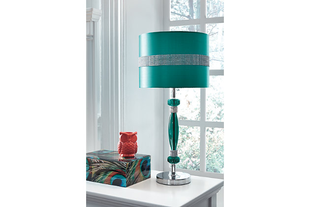 Nyssa Table Lamp by Ashley HomeStore, Teal