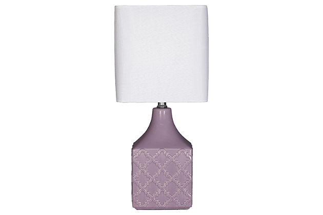 Simmone Table Lamp by Ashley HomeStore, Purple