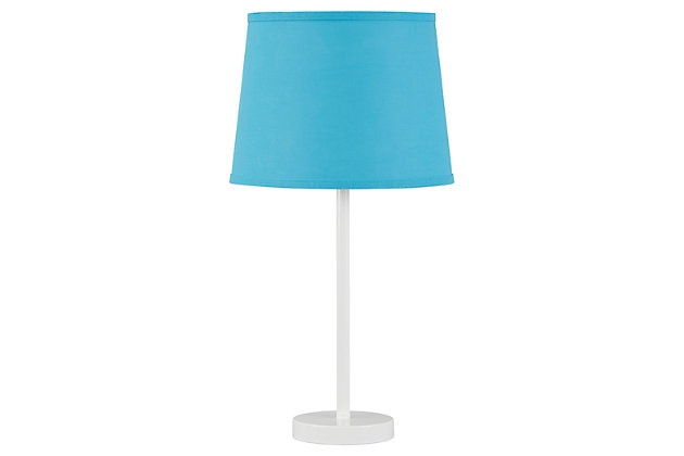 Shonie Table Lamp by Ashley HomeStore, Teal & White