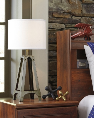 Ashley Arty Table Lamp, Silver Finish