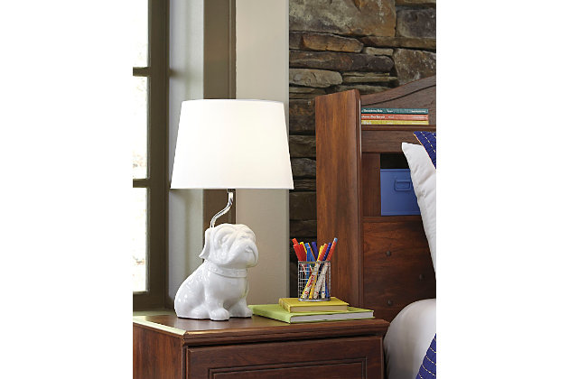 Avel Table Lamp by Ashley HomeStore, White