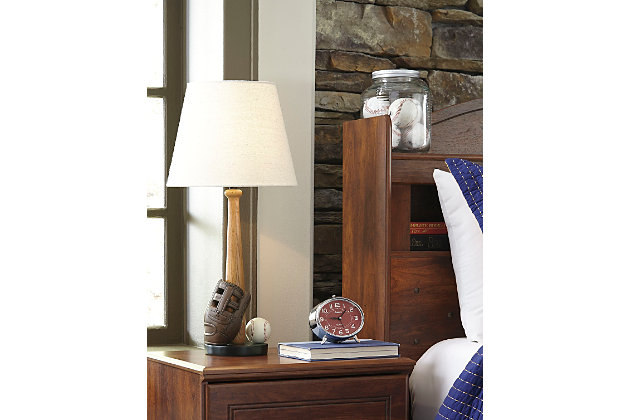 Avidan Table Lamp by Ashley HomeStore, Brown & White