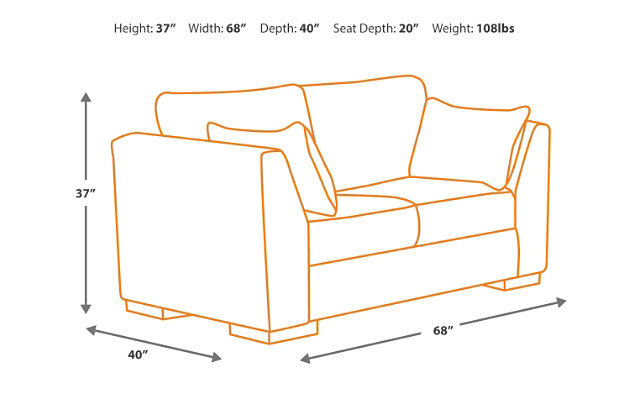 length size standard ektorp dimensions reclining loveseat series large u download and sofa of box couch kivik ultra design s