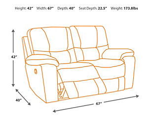 Palladum Reclining Loveseat, , large