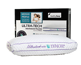 Ultra-Tech Tencel Medium Profile Pillow, White, rollover