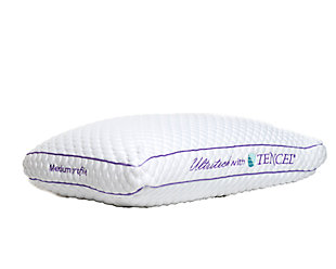 Ultra-Tech Tencel Medium Profile Pillow, White, large