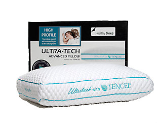 Ultra-Tech Tencel High Profile Pillow, White, rollover
