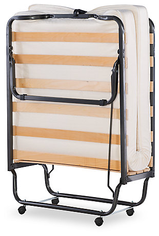 Folding Bed With Memory Foam, , large