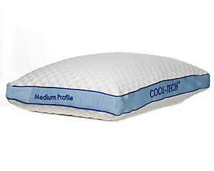 Cool-Tech Advanced Medium Profile Pillow, White, large