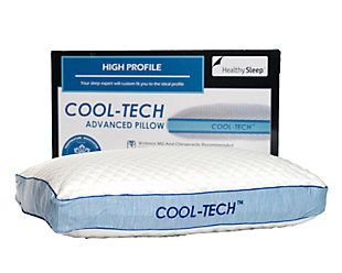 Cool-Tech Advanced High Profile Pillow, White, large