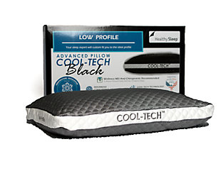 Cool-Tech Black Advanced Low Profile Pillow, Charcoal, rollover
