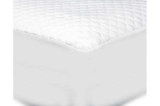 Cool-Tech Advanced King Mattress Protector, White, large