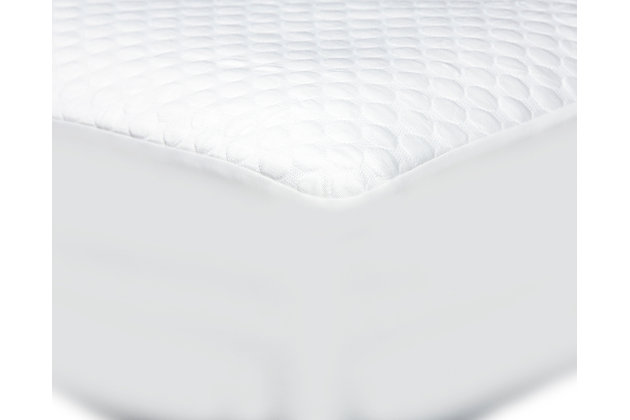 Cool-Tech Advanced Split Cal-King Mattress Protector, White, large