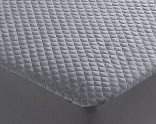 Cool-Tech Black Advanced Twin Mattress Protector, Charcoal, rollover
