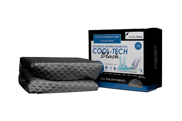 Cool-Tech Black Advanced Twin Mattress Protector, Charcoal, large
