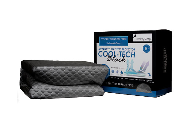 Cool-Tech Black Advanced Twin-XL Mattress Protector, Charcoal, large