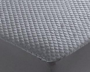 Cool-Tech Black Advanced Full Mattress Protector, Charcoal, large