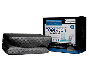 Cool-Tech Black Advanced Full Mattress Protector, Charcoal, large