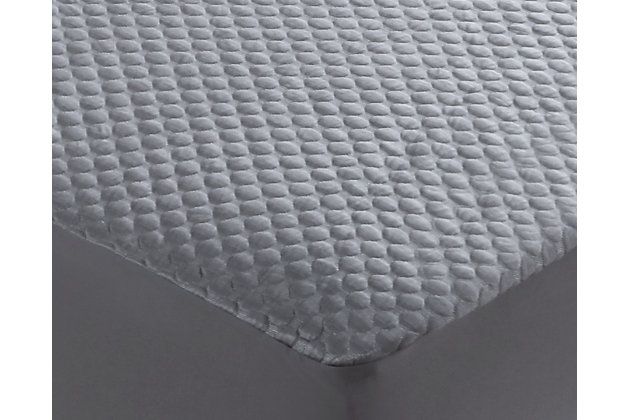 Cool-Tech Black Advanced Queen Mattress Protector, Charcoal, large