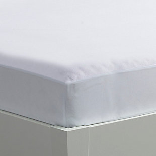 iProtect Mattress Protector - Queen, White, rollover