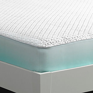 Ver-Tex 6.0 Performance Mattress Protector - Queen, White, rollover