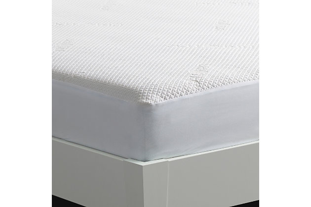 Dri-Tec 5.0 Moisture Wicking Performance Mattress Protector, White, large