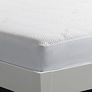 Dri-Tec 5.0 Moisture Wicking Performance Mattress Protector, White, large