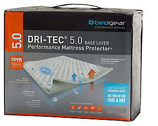 Bedgear Dri-Tec 5.0 Moisture Wicking Twin Mattress Protector, White, large