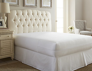 Zippered Twin Bed Bug and Spill Proof Mattress Protector, White, large