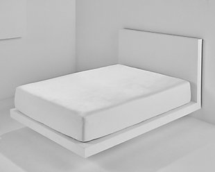 Bedgear Cool Touch Dri-Tec Twin Mattress Protector, White, rollover