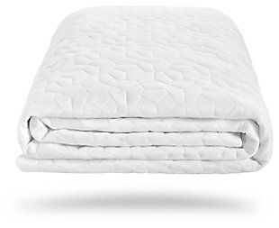 Bedgear Cool Touch Dri-Tec King Mattress Protector, White, large