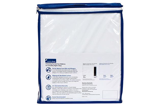 Healthy Sleep Supreme Twin Mattress Protector, White, large