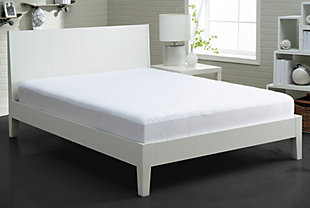 BEDGEAR® BG Basic Twin Mattress Protector, White, rollover