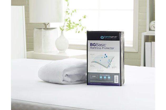 BEDGEAR® BG Basic Twin Mattress Protector, White, large