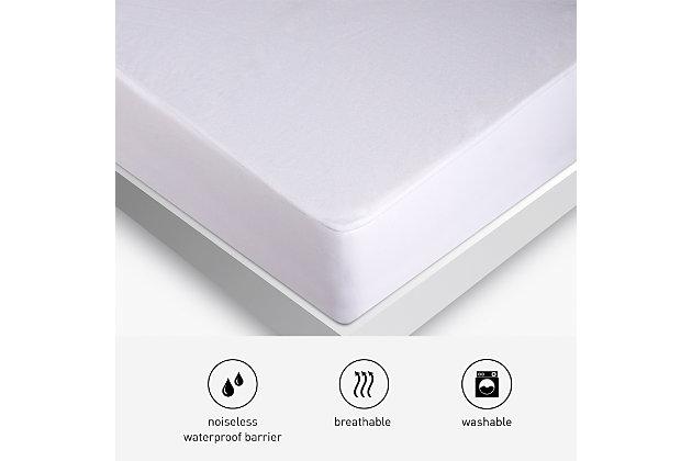 BEDGEAR® BG Basic Twin Mattress Protector, White, large