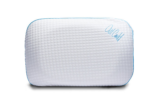 I Love Pillow Out Cold Contour Queen Pillow, White, large