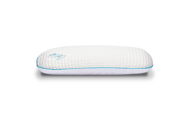 I Love Pillow Out Cold Slim Queen Pillow, White, large