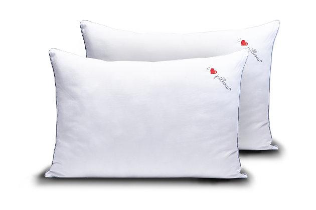 I Love Pillow Cumulus Queen Pillow 2-Pack, , large
