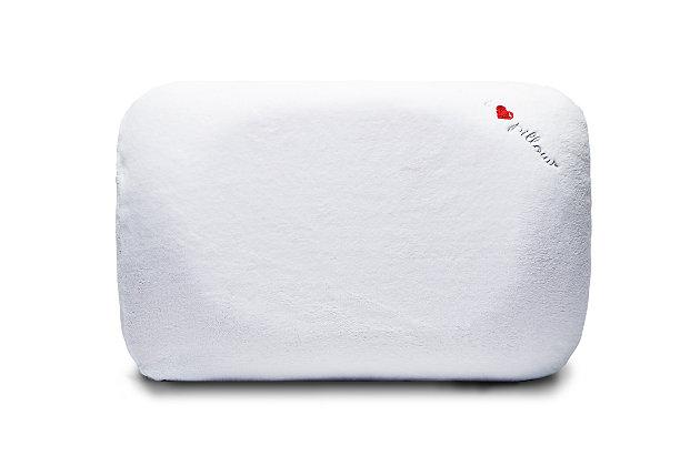 I Love Pillow Contour Queen Pillow, White, large