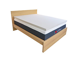I Love Pillow Twin Mattress Topper, White, rollover