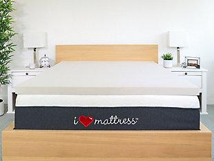 I Love Pillow King Mattress Topper, White, large
