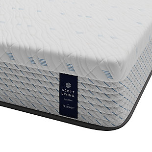 "Scott Living by Restonic  11"" Hybrid Firm Queen Mattress, Blue, large"