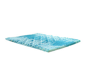 "Thomasville  2"" Gellux Tri-Zone Gel Memory Foam Twin Mattress Topper, Blue, large"