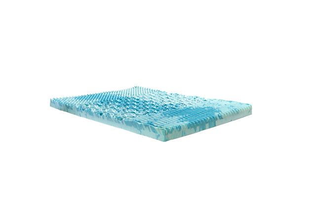 "Thomasville  4"" Gellux Tri-Zone Gel Memory Foam Twin Mattress Topper, Blue, large"