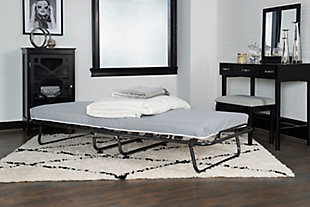 Linon Luxor Adjustable Head Folding Rollaway Memory Foam Bed, , large