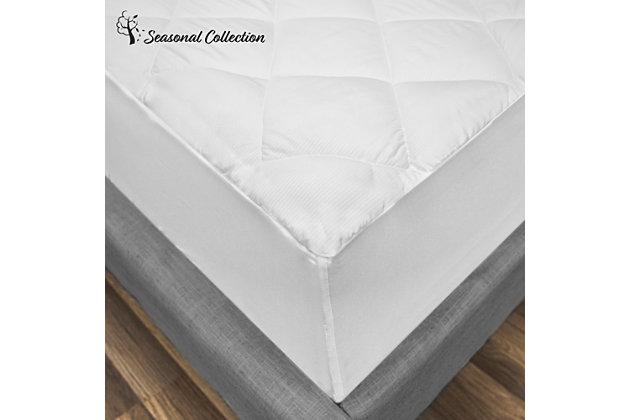 SensorPEDIC® All Seasons Reversible Twin Mattress Pad, White, large