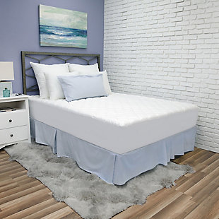 SensorPEDIC® Luxury Ultra Loft Gel Microfiber Twin Mattress Pad, White, rollover