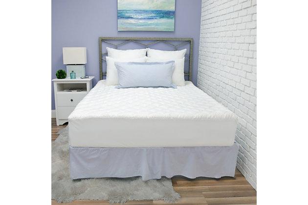 SensorPEDIC® Luxury Ultra Loft Gel Microfiber Queen Mattress Pad, White, large